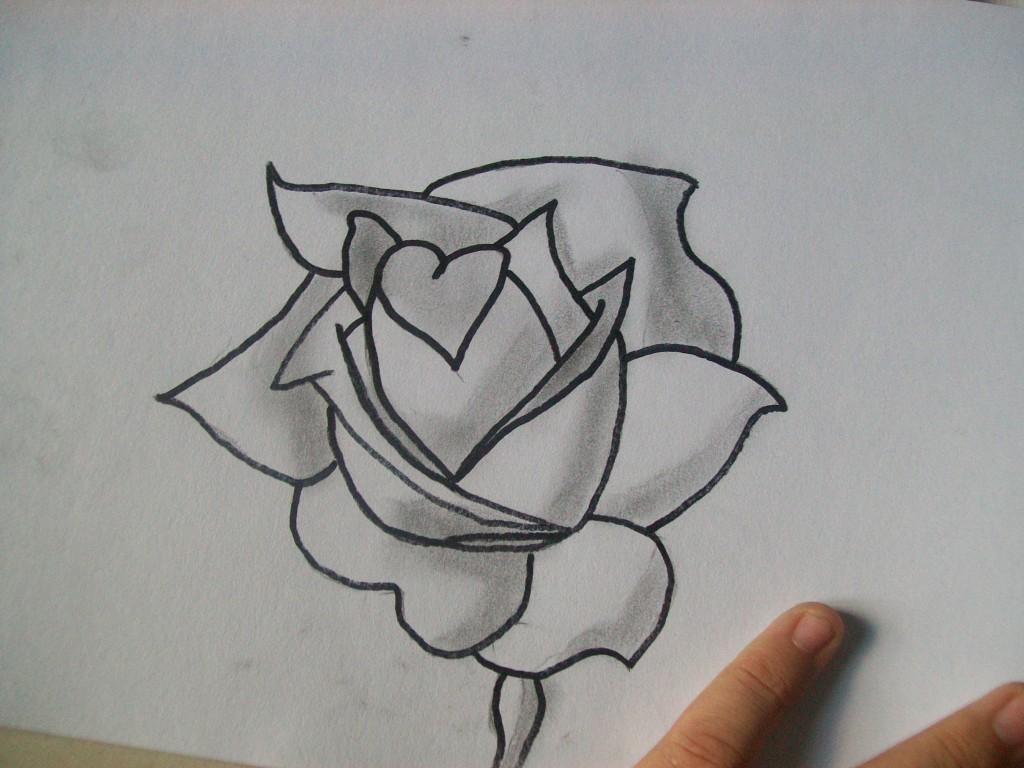 Mystogen Rose En Noir Et Blanc